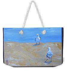 We First Met On The Beach Weekender Tote Bag
