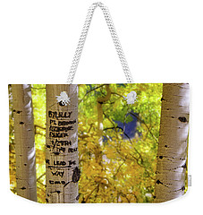 Weekender Tote Bag featuring the photograph We Lead The Way - Aspens - Colorado - Airborne Ranger by Jason Politte