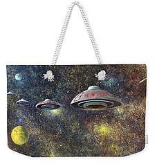 Weekender Tote Bag featuring the painting We Love Peru by Randol Burns