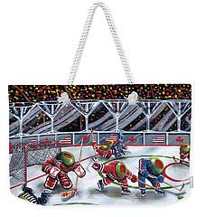 We Olive Hockey Weekender Tote Bag by Michael Godard