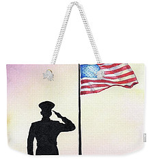 Weekender Tote Bag featuring the painting We Remember by Betsy Hackett