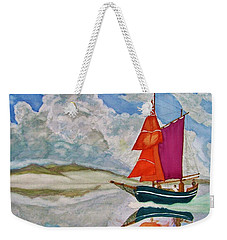 We Sailed Upon A Sea Of Glass Weekender Tote Bag