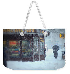 We Sell Flowers - Winter In New York Weekender Tote Bag