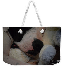 At Night We Snuggle Weekender Tote Bag by Patti Whitten