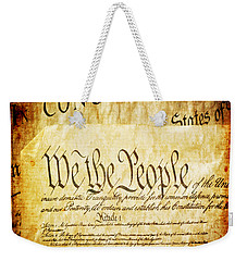 We The People Weekender Tote Bag by Angelina Vick