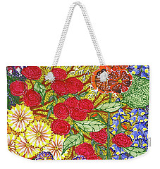 Weekender Tote Bag featuring the painting We Will Have Many Blooms #2 by Kym Nicolas
