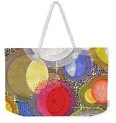 Weekender Tote Bag featuring the painting We Will Have Many Moons #2 by Kym Nicolas