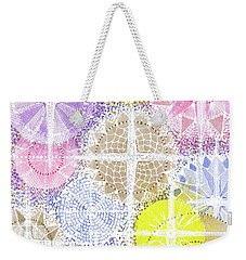 Weekender Tote Bag featuring the painting We Will Have Many Stars #2 by Kym Nicolas