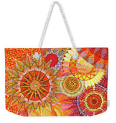 Weekender Tote Bag featuring the painting We Will Have Many Suns #2 by Kym Nicolas