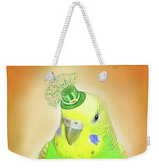 Weekender Tote Bag featuring the digital art Wearin' Of The Green by Jean Pacheco Ravinski