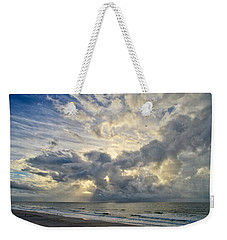 Weather Over Topsail Beach 2977 Weekender Tote Bag