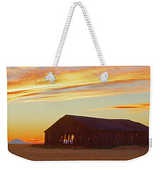 Weathered Barn Sunset Weekender Tote Bag