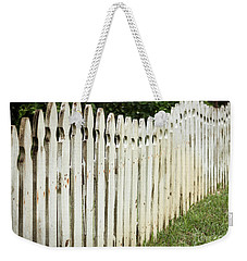 Weekender Tote Bag featuring the photograph Weathered Fence by Todd Blanchard