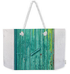 Weathered Green Door Weekender Tote Bag