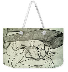 Weathered Old Man Weekender Tote Bag by Yshua The Painter