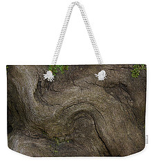 Weekender Tote Bag featuring the photograph Weathered Tree Root by Mike Eingle
