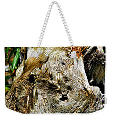 Weathered Wood Weekender Tote Bag by Debbie Portwood