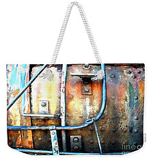 Weathering Steel - Rail Rust Weekender Tote Bag by Janine Riley