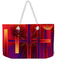 Weekender Tote Bag featuring the photograph Weave by Trena Mara
