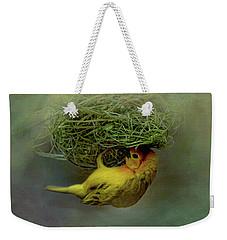 Weaver Bird Building A Nest Weekender Tote Bag