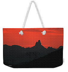 Weaver Needle Sunset Weekender Tote Bag
