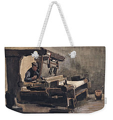 Weekender Tote Bag featuring the painting Weaver Nuenen, December 1883 - August 1884 Vincent Van Gogh 1853 - 1890 2 by Artistic Panda