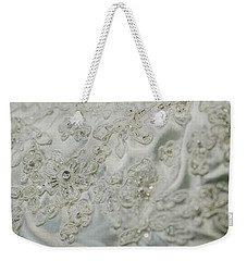 Wedding Dress Floral Beadwork Weekender Tote Bag