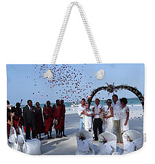 Wedding Party In Rose Petals Weekender Tote Bag