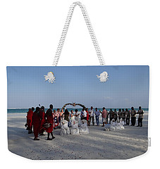 wedding with Maasai singers Weekender Tote Bag