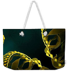 Weekender Tote Bag featuring the digital art Weed 1 by Ron Bissett