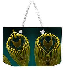 Weekender Tote Bag featuring the digital art Weed 2 by Ron Bissett