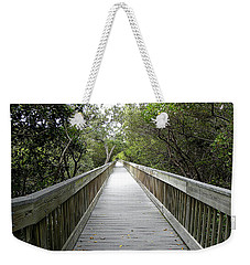 Weekender Tote Bag featuring the photograph Weedon Island Boardwalk  by Chris Mercer