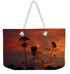 Weeds In The Sunrise Weekender Tote Bag