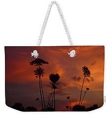 Weeds In The Sunrise Weekender Tote Bag by Kathryn Meyer
