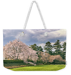 Weekender Tote Bag featuring the photograph Weeping Cherry In Bloom by Jessica Jenney