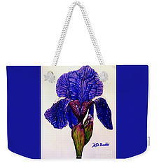 Weeping Iris Weekender Tote Bag by Kimberlee Baxter