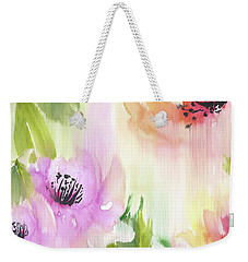 Weekender Tote Bag featuring the painting Weeping Rose Forest by Colleen Taylor