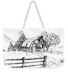 Weeping Willow And Barn One Weekender Tote Bag