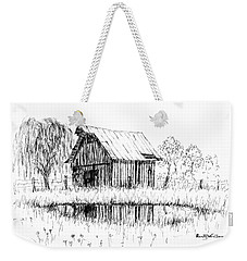 Weeping Willow And Barn Two Weekender Tote Bag