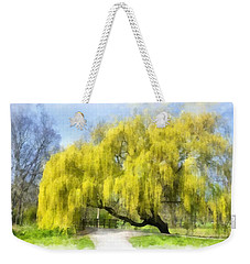 Weeping Willow Aquarell Weekender Tote Bag