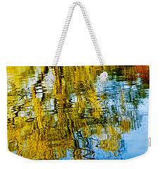 Reflective Lake Weeping Willow Tree  Wall Art Print Weekender Tote Bag by Carol F Austin