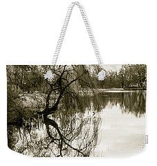 Weeping Willow Tree In The Winter Weekender Tote Bag