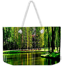 Weeping Willow Tree Reflective Moments Weekender Tote Bag