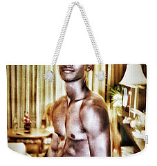 Weekender Tote Bag featuring the photograph Weerawat. We For Short. A Kickboxer And by Mr Photojimsf