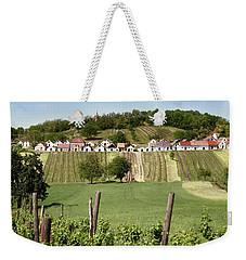 Weekender Tote Bag featuring the photograph Weinviertel Landschaft Galgenberg Kellergasse by Menega Sabidussi
