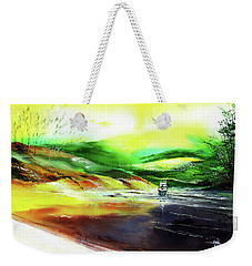 Weekender Tote Bag featuring the painting Welcome Back by Anil Nene