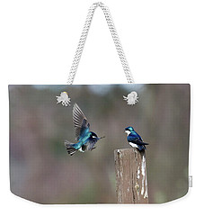 Weekender Tote Bag featuring the photograph Welcome Back by Gary Wightman