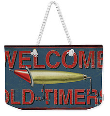 Welcome Fishing Sign Weekender Tote Bag