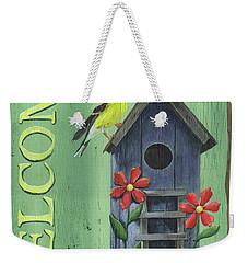 Welcome Goldfinch Weekender Tote Bag