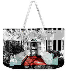 Weekender Tote Bag featuring the photograph Welcome by Greg Fortier